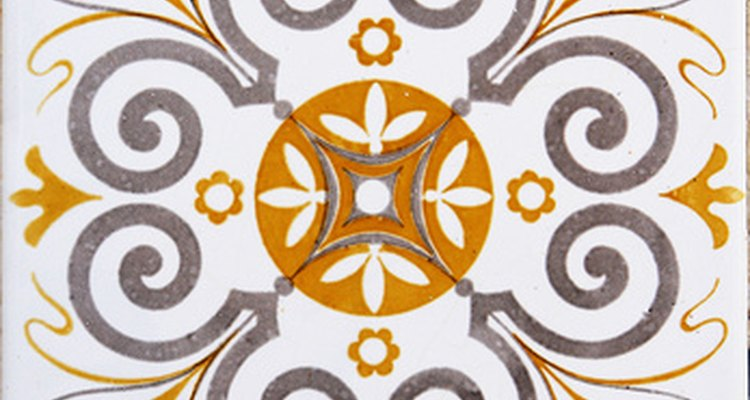 Mexican ceramic tiles, like this one, mix local designs and ancient traditions.