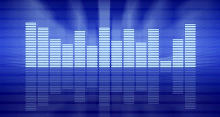 Los marcadores LED en un ecualizador muestran la presencia de ciertas frecuencias en una grabación.