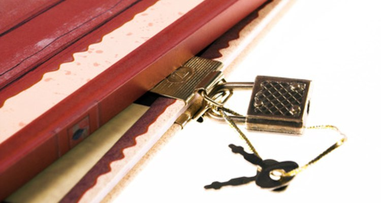 Premanufactured diary locks are sometimes easy to pick.