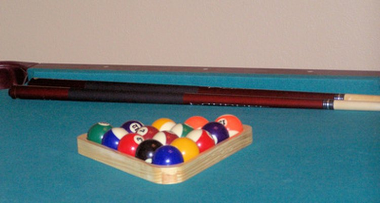 Mark measurements on your pool table for standard play.