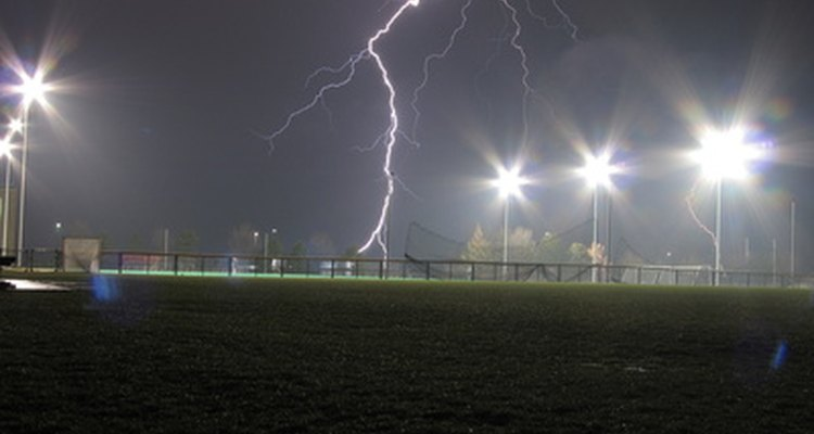 Lightning at a soccer event