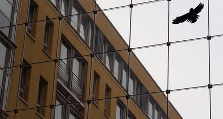 Netting helps to protect buildings.