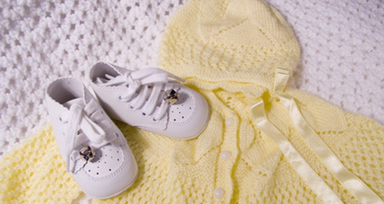 Soak stained baby clothing that has been stored overnight.