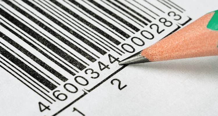 Barcodes contain product information.