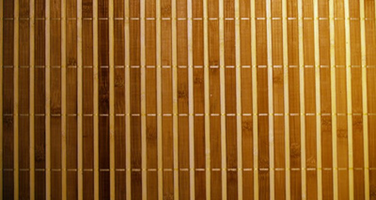 Closed vertical blinds.