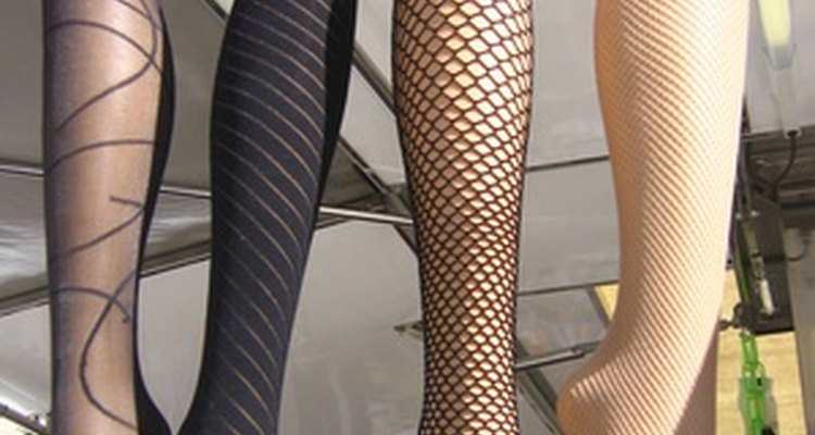 Stockings come in a variety of colours and textures.