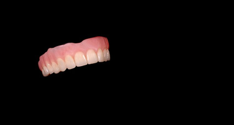 Learn about material used to make dentures.