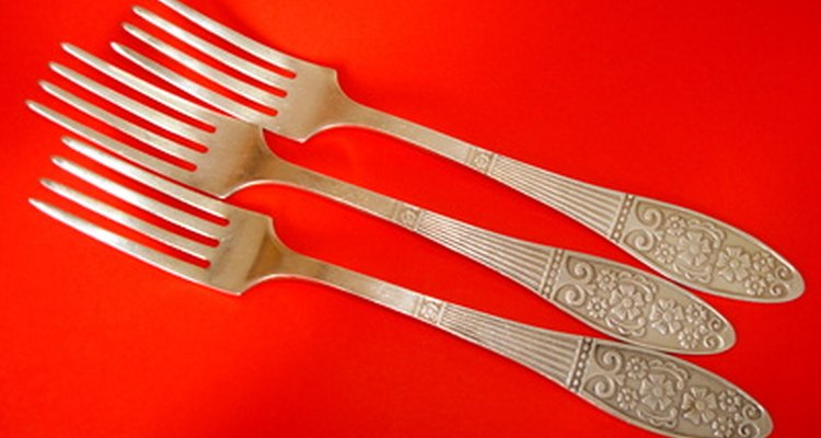 Pure silver and silver-plated flatware will tarnish and begin to yellow.