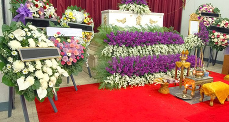 Florists can advise on the appropriate flowers to choose in the event of death.