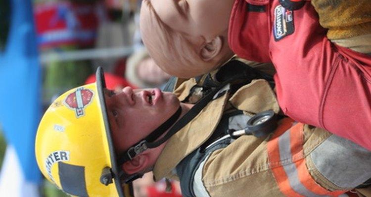 Entrenamiento de un bombero.