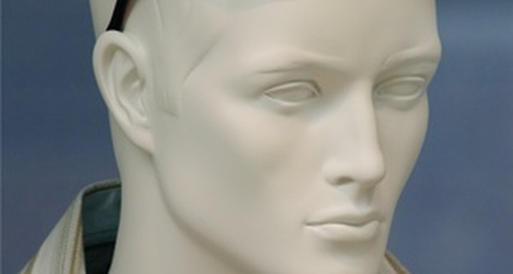 Painting a mannequin can make it look more realistic than leaving it unpainted.