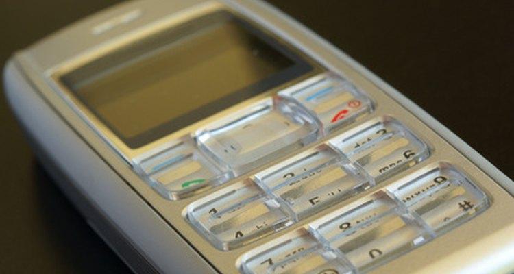 Un teléfono celular.