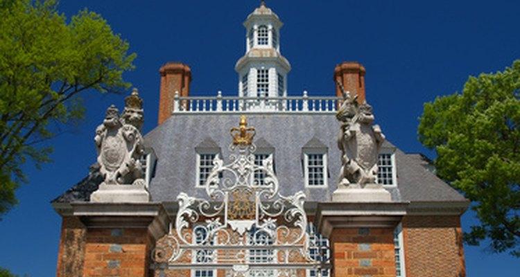 El palacio de Govenor en Williamsburg no está lejos de la playa.