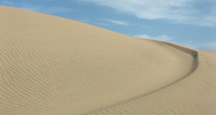 La lluvia es extremadamente rara en algunos desiertos.