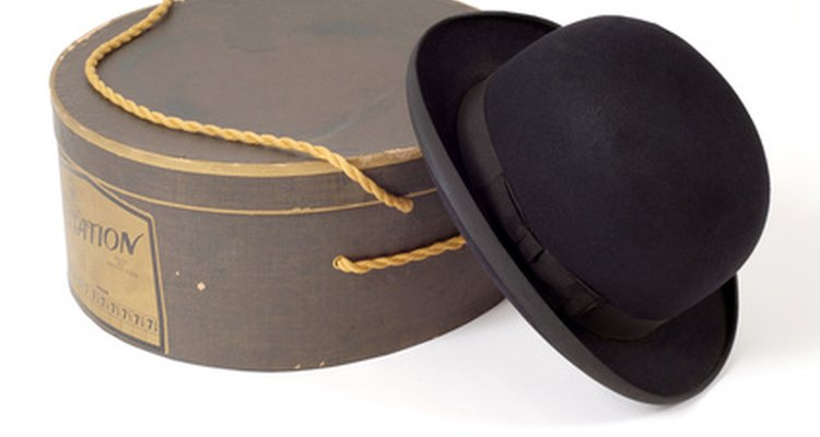 Shaped felt hats require shrinking and reassembling by a milliner.