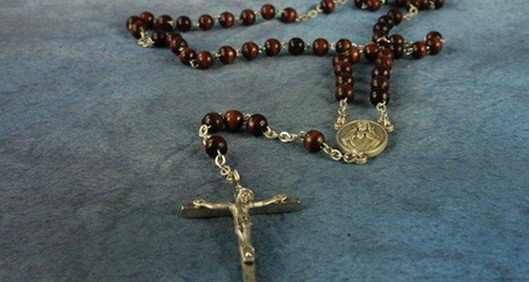 O rosário representa meditação e oração católica preciosas
