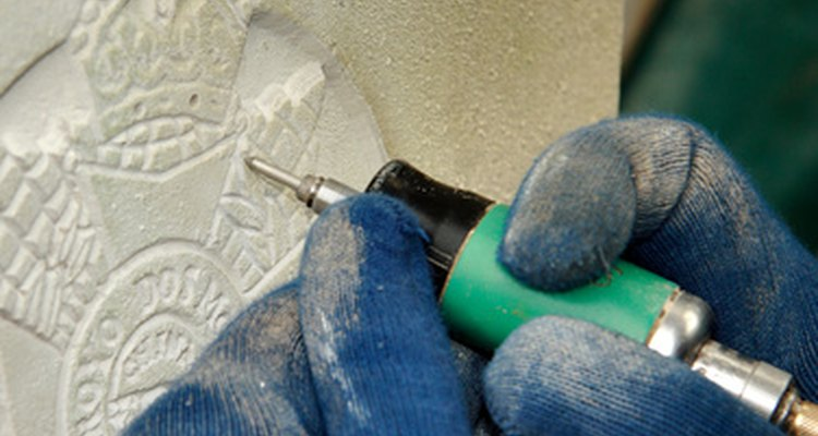 Specialised engraving tools are used to carve designs into different materials