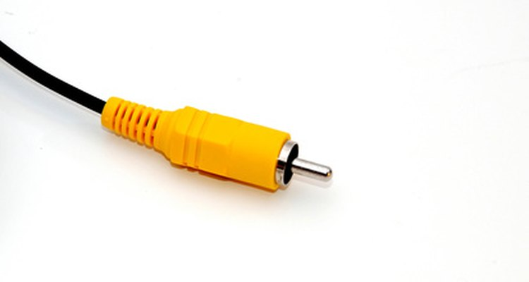 Yellow RCA video cable.
