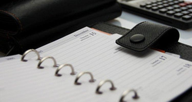 La agenda es una herramienta clave para una auxiliar administrativa.