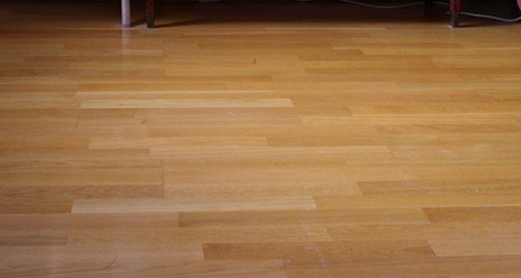 Cables can run underneath a laminate floor.