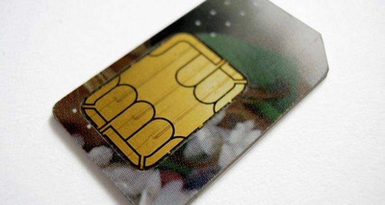 O chip SIM é a área dourada na traseira do cartão