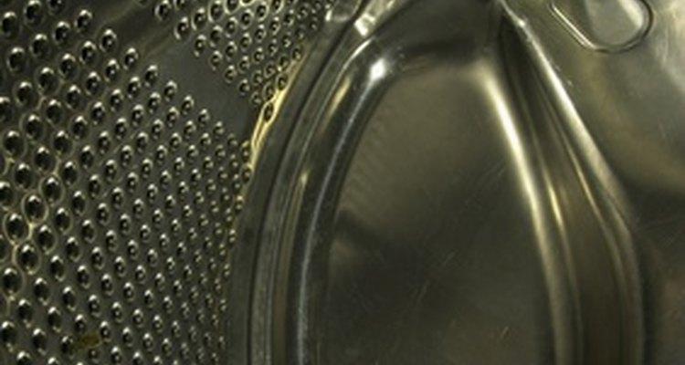 Dentro de uma máquina de lavar