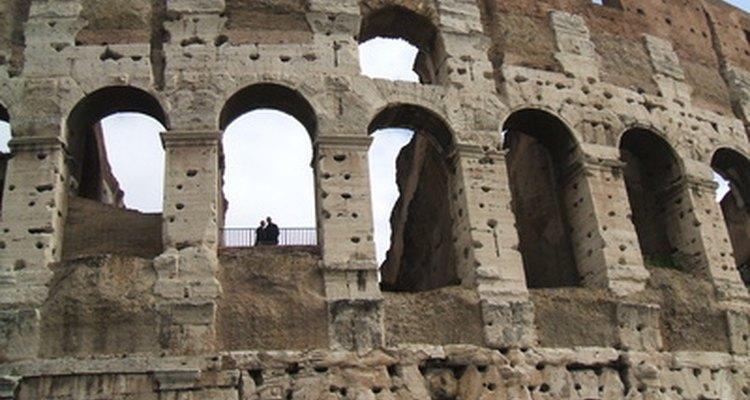 The Colosseum has Doric columns along its arches.