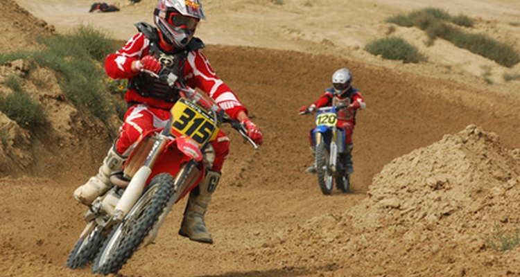 Motocross boots are essential gear for riders.