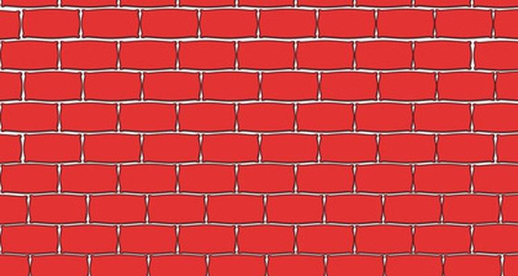 El ladrillo rojo se utiliza comúnmente para la construcción de hogueras o chimeneas.