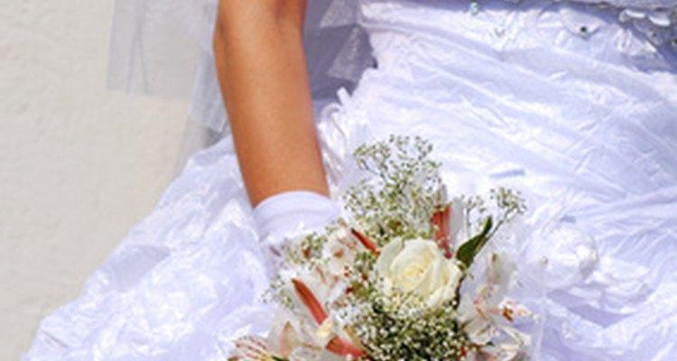The wedding dress is Christine's most elaborate costume.