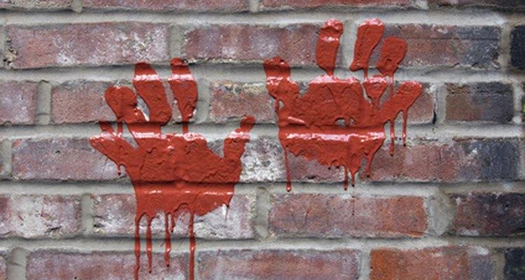 Paint splatters can make bricks appear dingy.