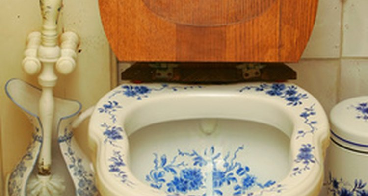 Mineral stains are a common problem in toilet bowls.
