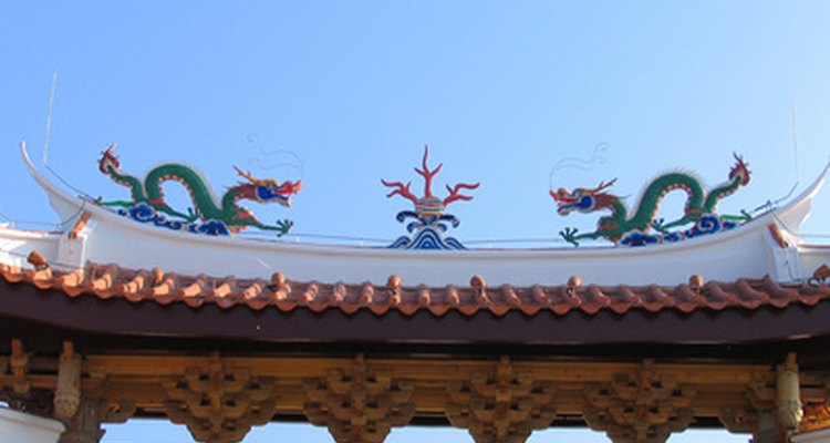 Dragons are a predominant feature in Chinese architecture and culture.