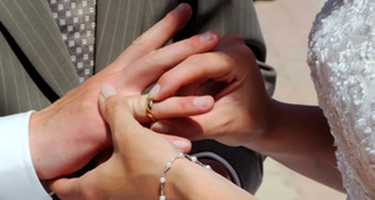 A couple using an African love knot literally ties the knot.