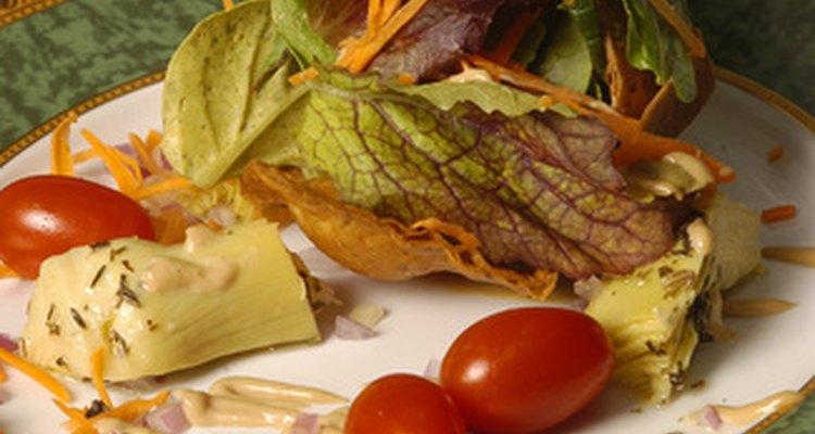 Los alimentos deben ser frescos, saludables y bien presentados.