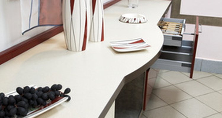 Installing a laminate countertop in your kitchen isn't as hard as it looks
