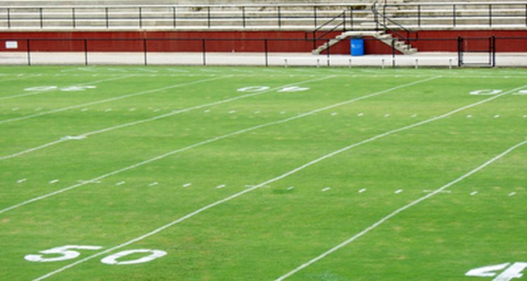 Astroturf is a common selection for football fields.