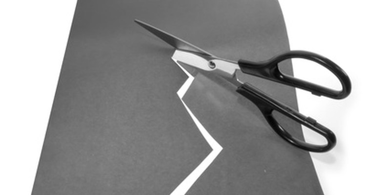Scissors are an alternative to using a die cutter for paper.