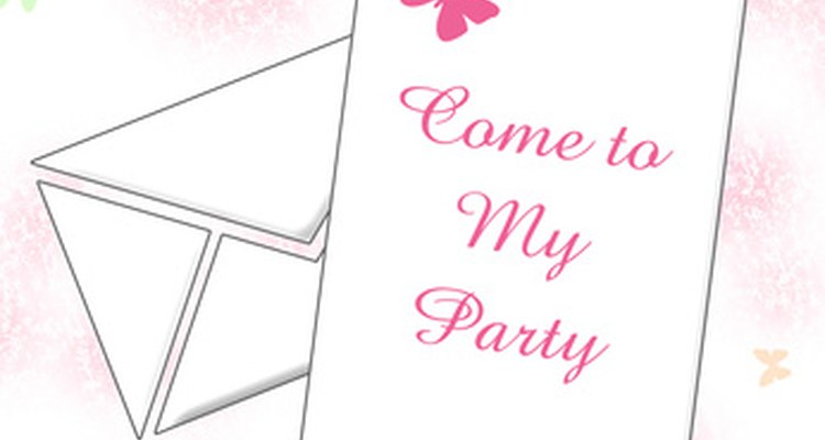 Sending out invitations ensures your guests get the most accurate information.