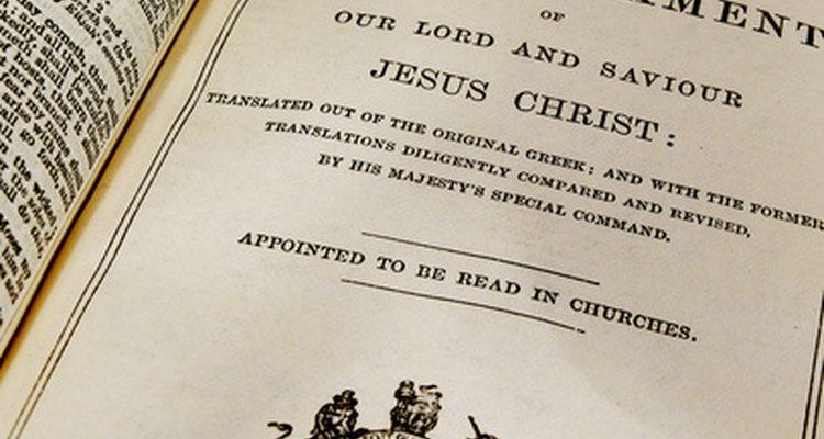 O Novo Testamento possui cinco divisões
