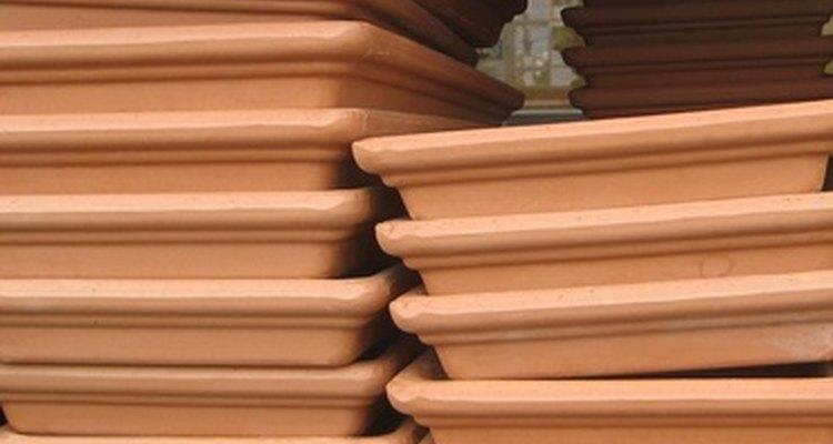 Azulejos terracotta geralmente têm um tom de vermelho enferrujado