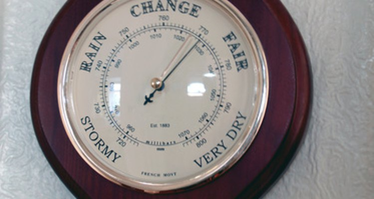 Barometers measure air pressure.