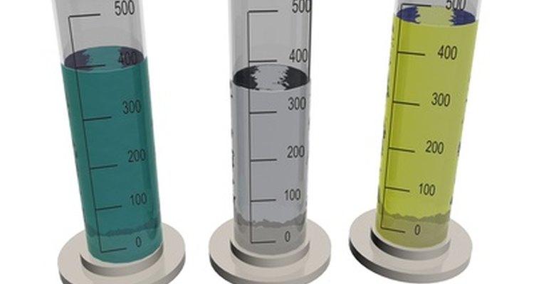 Os frascos podem ser usados para misturar os compostos