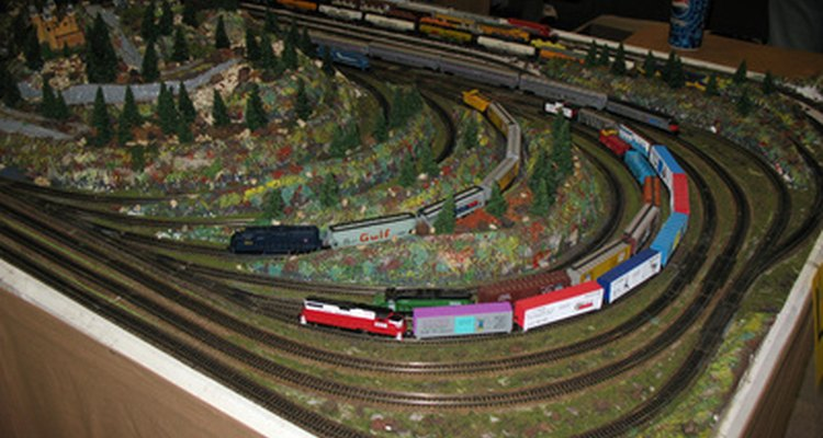 Tiny lights add a degree of realism to a tiny train set.
