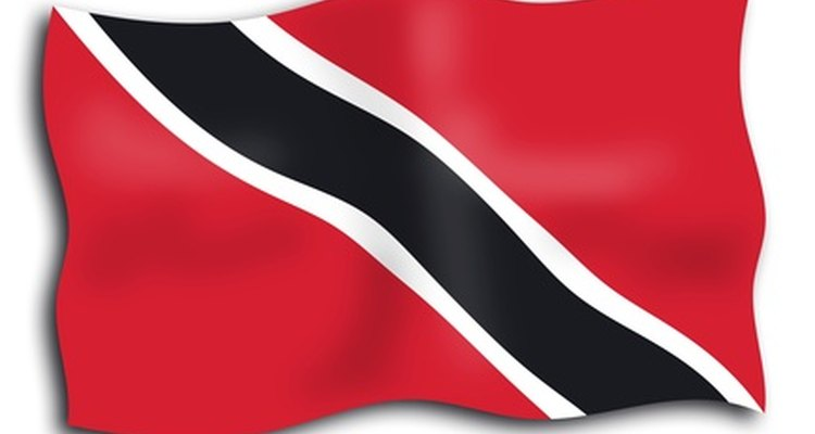 The flag of the Republic of Trinidad and Tobago