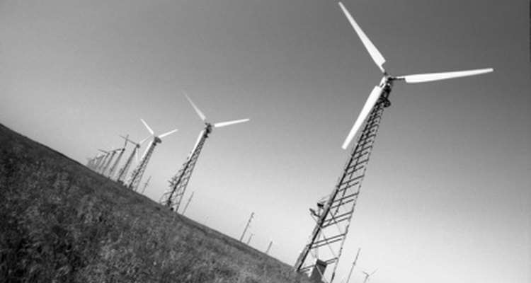 Wind farms are a relatively new source of electrical power.