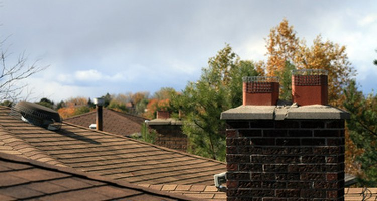 The chimney crown slopes so rain will run off