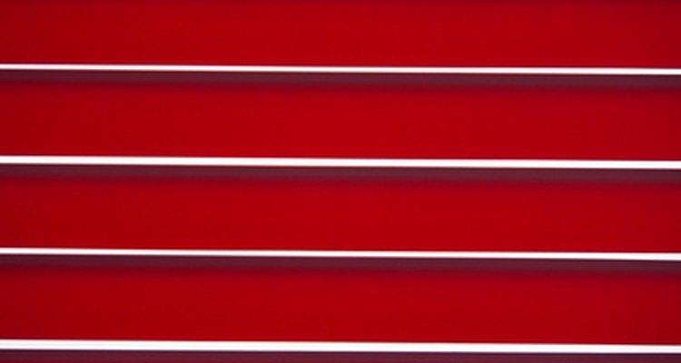 Venetian blinds.