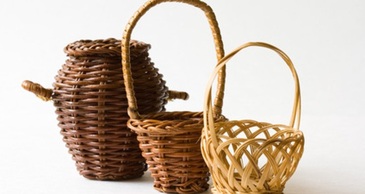 Wicker baskets can be mended with new material.