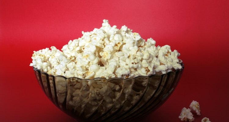 Air popped popcorn requires no fat to make.